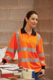 Hi Viz long sleeved polo shirt