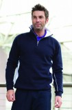 Navy/White zip neck sweatshirt