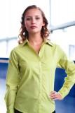 Ladies long sleeve poplin blouse - PR300