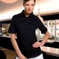 Mock turn cuff blouse