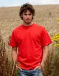 Red organic t shirt