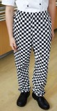 Bold check chefs trousers