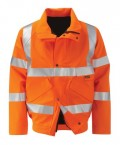 Gore-tex bomber jacket Hi Vis orange