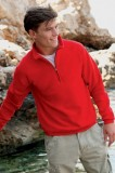 Red zip neck sweatshirt - SS230