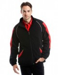 Black/Red lined fleece jacket K958
