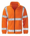 Hi Vis Orange Fleece Jacket