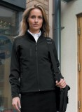 Ladies black soft shell jacket
