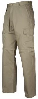Khaki - zip off trousers